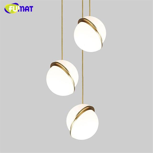 FUMAT Pendant Lamp LED Pendant Light Nordic Light Fixtures Modern Crecent Lights Bedroom Brief Art LED Lamparas For Dining Room
