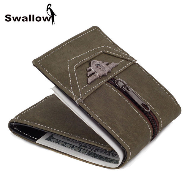 Military 3 Page Multifunctional Canvas Men Wallets With Card Holders Famous Brand Wallet For Male Badge Coin Pocket Army Green