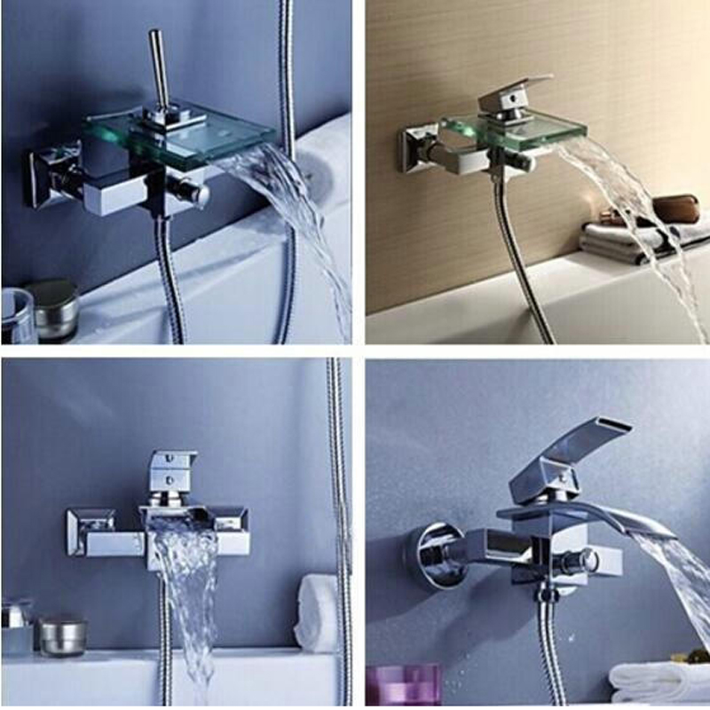 BAKALA Bathroom Faucet Bath Shower Faucet In-Wall Waterfall Mixer Tap Bathtub Crane bathroom shower faucet set gappo bathtub faucet bath shower faucet waterfall wall shower bath set bathroom shower tap bath mixer torneira grifo ducha