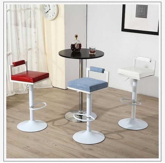 Bar Chaise Salon Tissu Sige Tabouret Caf Nombre De Maison Table Rouge Rose Couleur