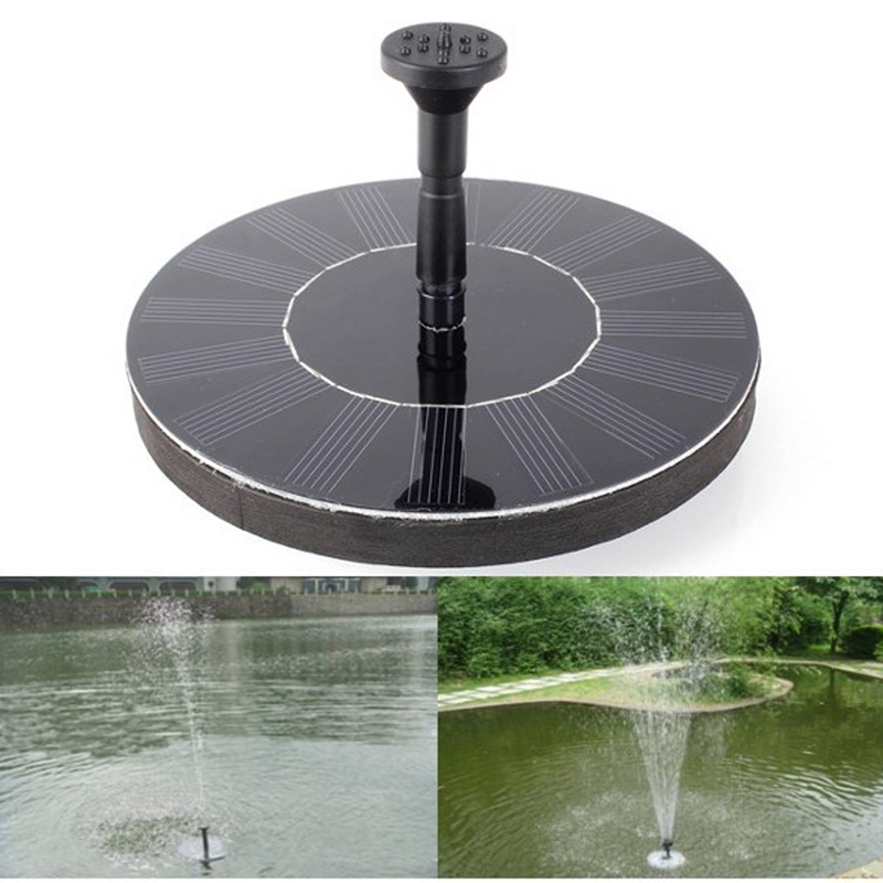 1set irrigation system solar power fountain pool water sprinkler pump garden tools sun plants. Black Bedroom Furniture Sets. Home Design Ideas