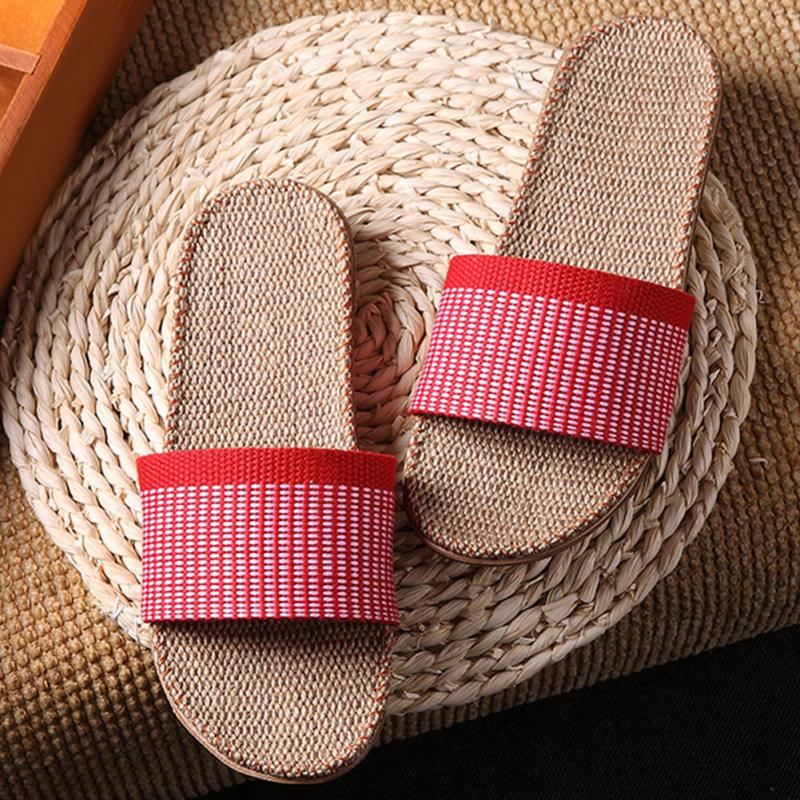 New Linen Beach Slippers Couples Unisex Shoes Anti-skid slippers Outdoor Beach Sandals 5 Colors for Choice Women shoes #30New Linen Beach Slippers Couples Unisex Shoes Anti-skid slippers Outdoor Beach Sandals 5 Colors for Choice Women shoes #30