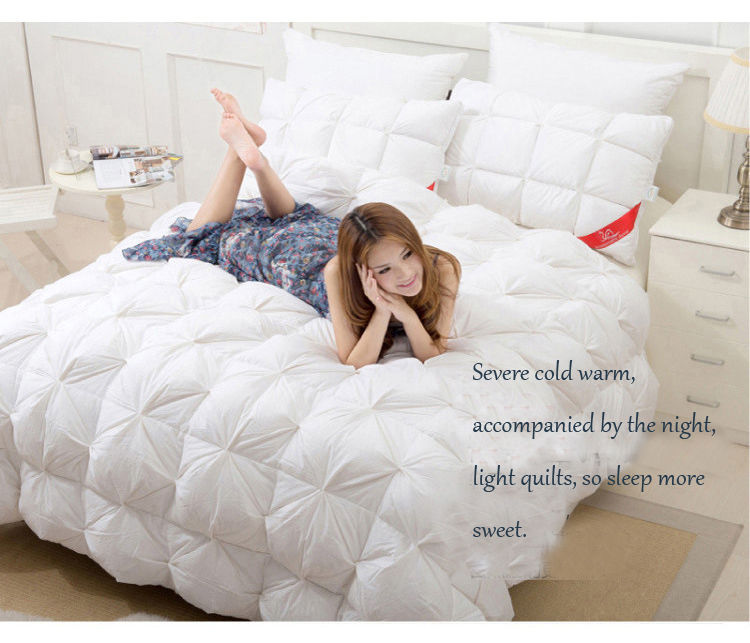 Multidimensional space duvet quilt White goose quilts European court warm and soft quilts comforter03