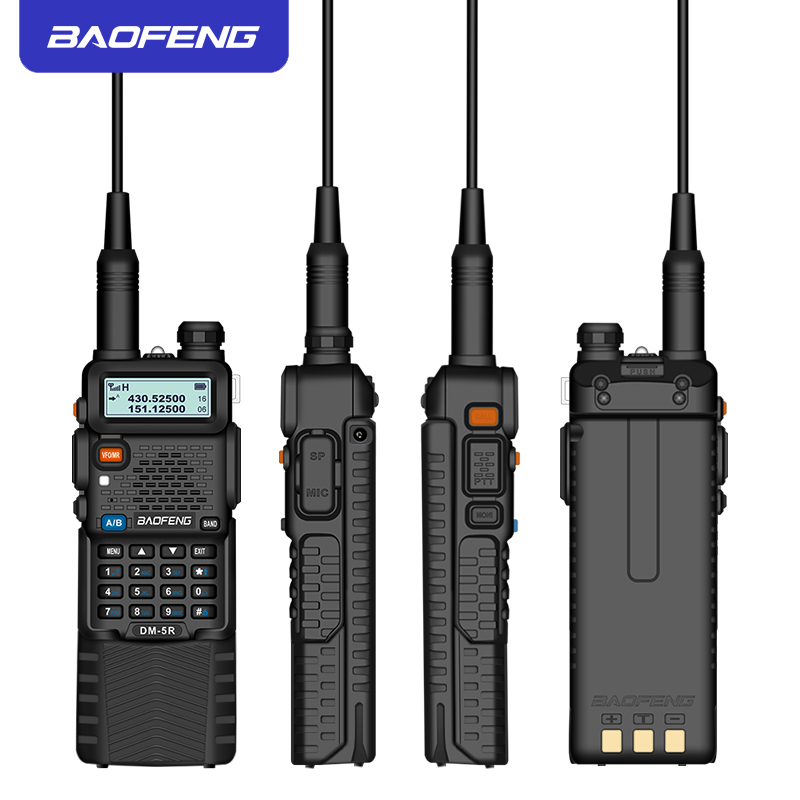Image 4 - Baofeng DMR 5R Ham Amateur Two Way Radio VHF/UHF Dual Band Dual Time Slot Walkie Talkie 1024 CH Tier I & II Compatible with MOTO-in Walkie Talkie from Cellphones & Telecommunications