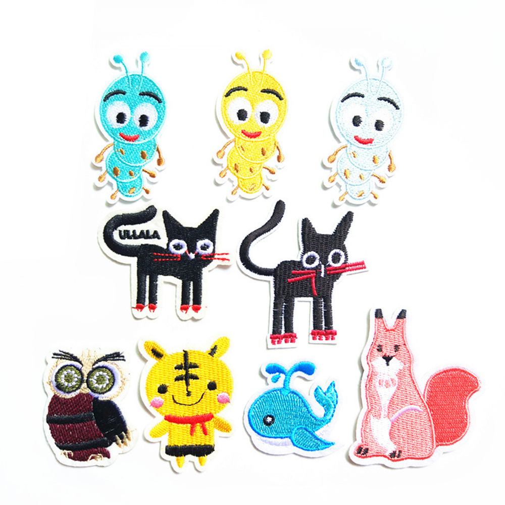 Cartoon New Animal Embroidery Cloth Patch Squirrel Embroidery Clothes Decoration Patch D-016
