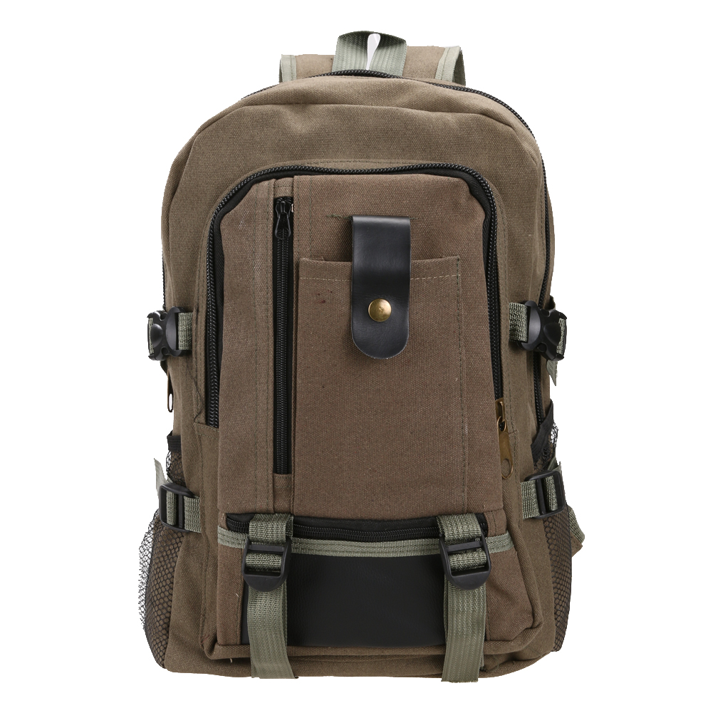 Outdoor Hiking Camping Bag Unisex Canvas Schoolbag Travel Rucksack Mountain Backpack Hunting Travel Storage Bag Hiking Bags big capacity tactical canvas backpack vintage laptop bags hiking men s backpack schoolbag travel rucksack outdoor daypack me0888