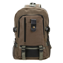 Outdoor Hiking Camping Bag Unisex Canvas Schoolbag Travel Rucksack Mountain Backpack Hunting Travel Storage Bag Hiking