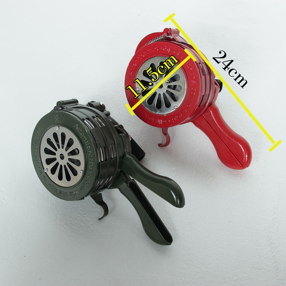 NEW Green Aluminium Alloy Crank Hand Operated Air Raid Emergency Safety Alarm Siren Home Self Protection Security Alarm Siren