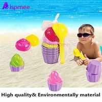 9 teile/los Kinder Baby Strand Sand Spielzeug Kleine Kuchen Form Löffel Eis Pudding Strand Spielen Sand Schnee Spielen Wasser spielzeug Geschenke Für Kinder