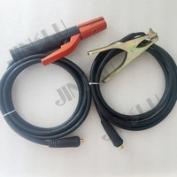 300A Electrode Holder Arc Welding Plug 10 25mm Lead Cable 3 Meter & 200A Earth Clamp 3M