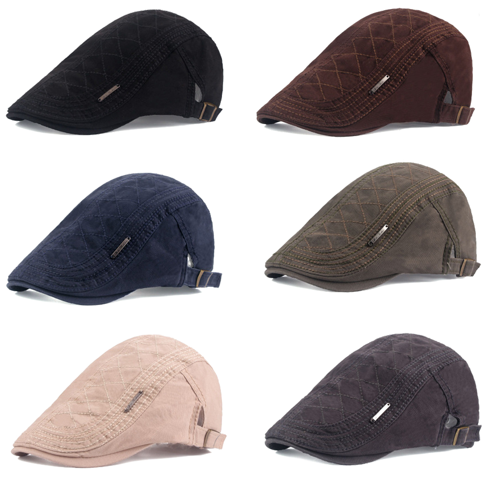 cd7217f51 Crazy Deal] Adjustable Beret Cotton Caps New Outdoor Sun Breathable ...