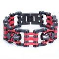 Stainless Steel Bracelet Harley Jewelry Special Red&Black Biker Heavy Metal Bicycle Motorcycle Chain For Mens Bracelets Bangles