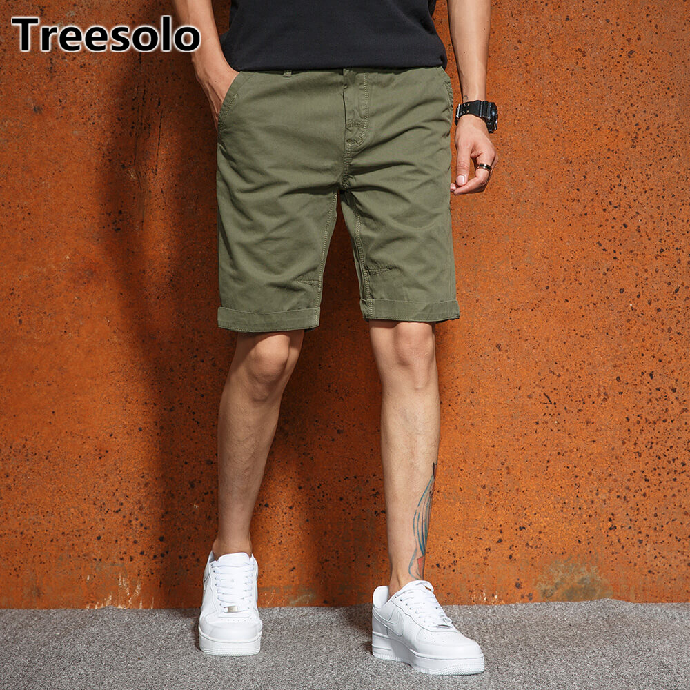 Treesolo shorts men 2018 Top Selling Summer Breathable Male Bermuda Trousers Comfortable fitness shorts men Drop Shipping 493