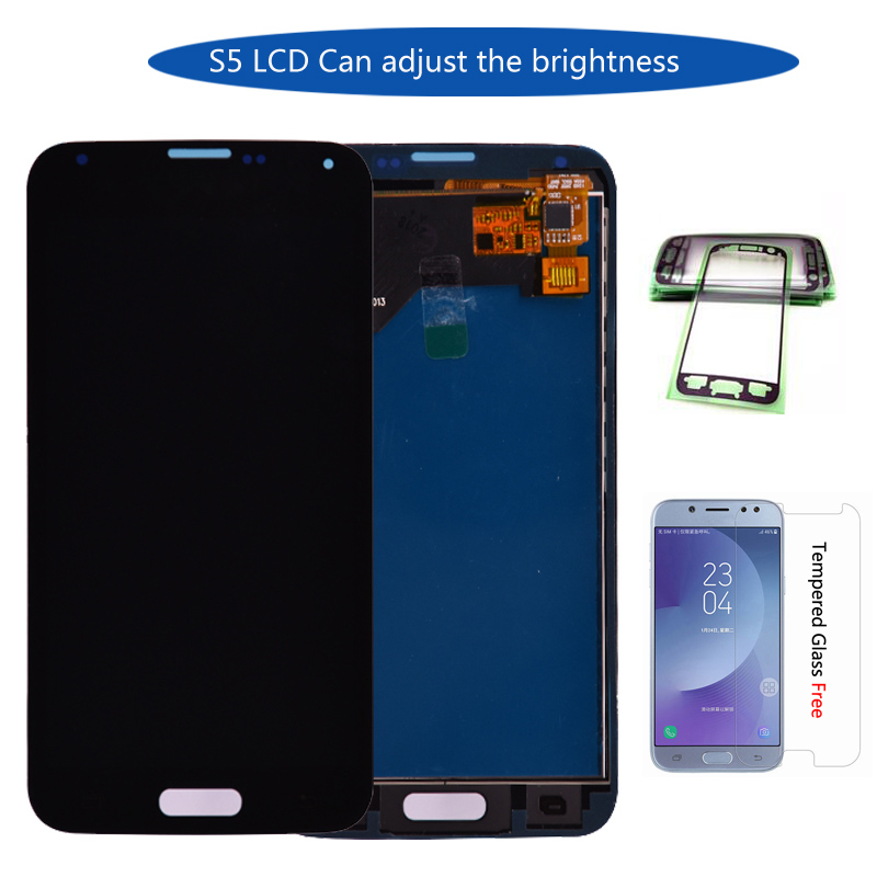 For Samsung S5 G900F LCD Display Screen Touch Digitizer Assembly Compatible for Samsung Galaxy S5 G900