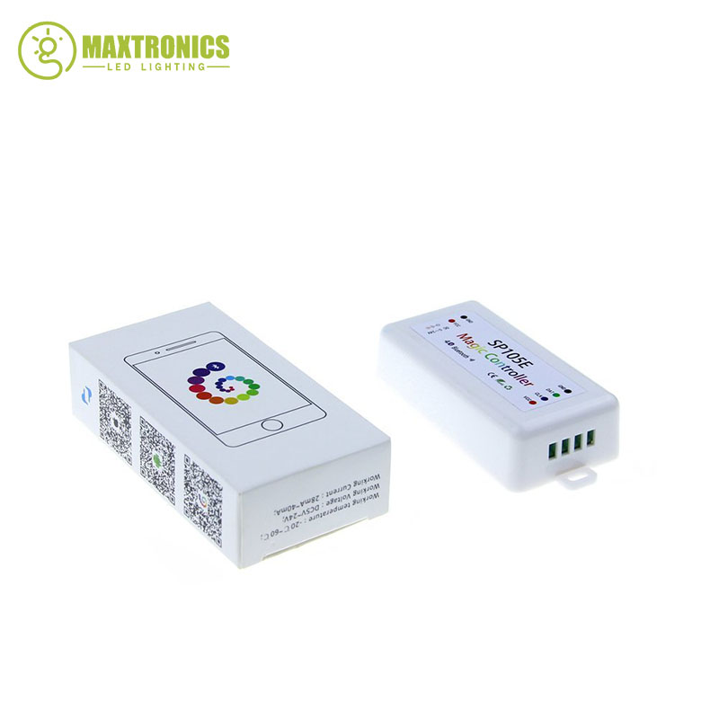 SP105E Magie Controller Bluetooth 4,0 DC5-24V 2048 Pixel für WS2811 2812 2801 6803 IC Led-streifen Unterstützung IOS/Android APP