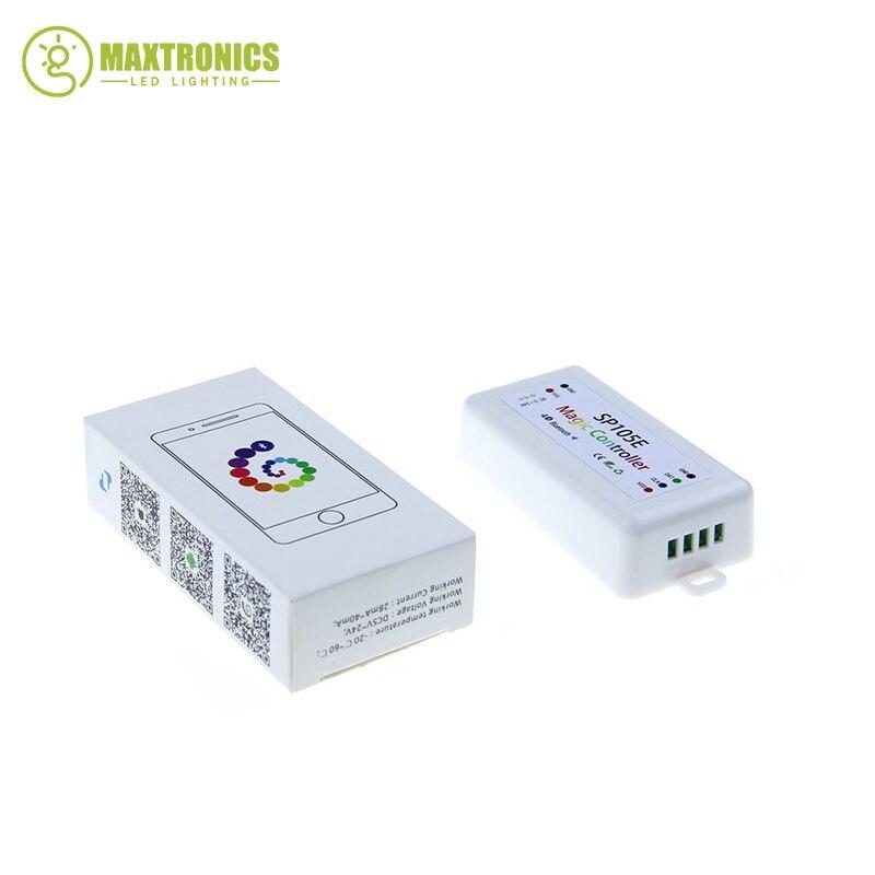 SP105E Magique Contrôleur Bluetooth 4.0 DC5-24V 2048 Pixels pour WS2811 2812 2801 6803 IC LED Bande Support IOS/Android APP