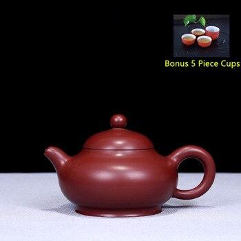 160ml Yixing Purple Clay Tea Pot Genuine Raw Ore Dahongpao Tea Pot Kung Fu Teapot Bonus 5 Piece Cup Tea Set Free Shipping