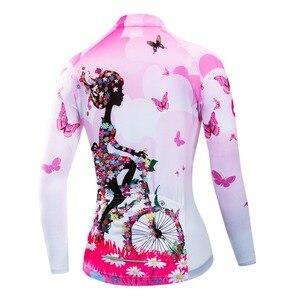 Image 2 - 2020 Ciclismo Jersey mtb Bici Jersey Shirt Maglia A Manica Lunga Vestiti di Riciclaggio Della Bicicletta Vestiti Ropa Maillot Ciclismo Anti Uv Rosa