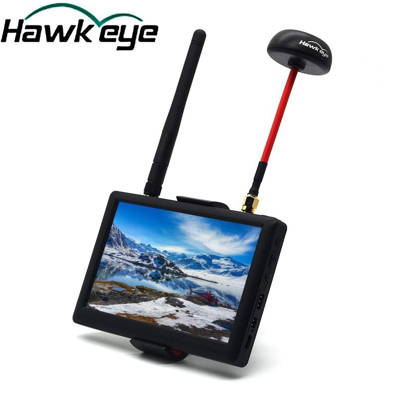 Hawk Eye 5 inch High Definition HD 5.8G 40CH FPV Monitor for QAV250 Racing Drone DIY Quadcopter Aerial Photography Display
