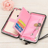 Luxury Women Wallet Phone Bag Leather Case For IPhone 6 6s Plus 5s 5 7 7plus