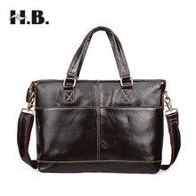 HIBO Men Casual Briefcase Business Shoulder Bag Leather Messenger Bags Computer Laptop Handbag Bag Men's Travel Bags