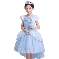 ABGMEDR Brand Cinderella Dress Girl Children Christmas Chothing Girls Party And Wedding Dresses Kids High Low