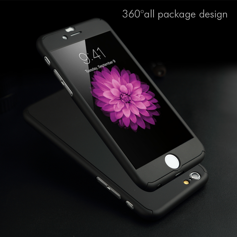 low priced 150d8 6f7c9 US $1.48 |HMYOYO 2018 New Phone Case for Iphone 6 6s Plus 5 5s SE Full 2 in  1 Design Mobile Phone Cover +Temper Glass Screen Protector-in Fitted Cases  ...