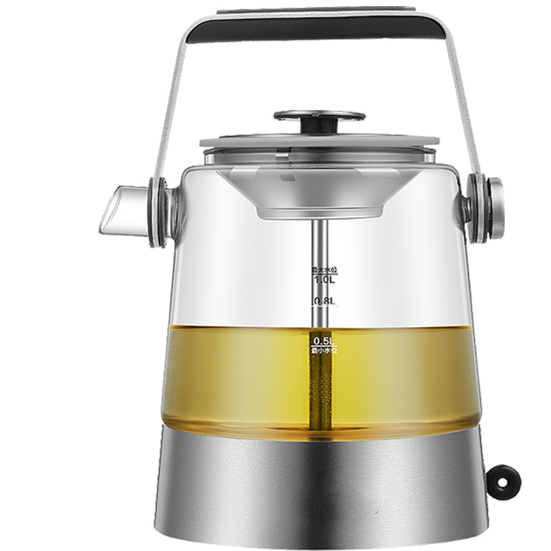 Electric kettle Automatic glass cooking pot steaming curing of electric heating steam tea, black tea boiled curing pot tisanes of the multifunctional automatic thickening glass boiled tea electric cooking pot electric water ket