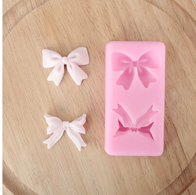 100% food gade New style Cute Bow /Butterfly shaped hot sale chocolate silicon mold fondant Cake decoration mold soap mold