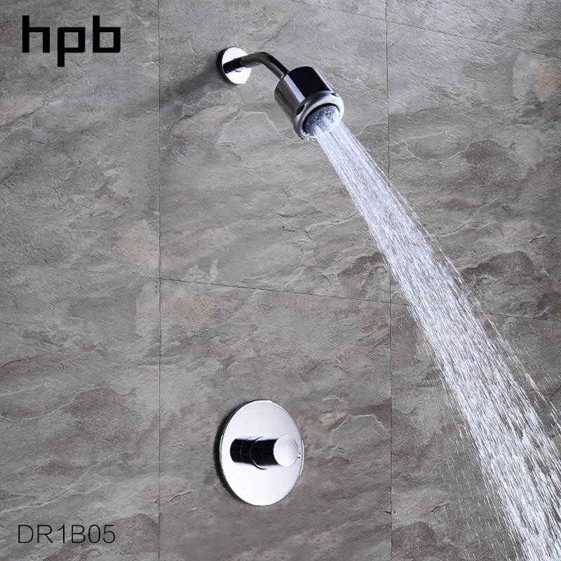 HPB Wall Mounted Bathroom Three Functions Shower Head Sets Mixer Tap Rainfall Shower Nozzle Head Brass Mixer Valves DR1B05