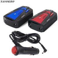 Détecteur de Radar de véhicule de voiture YASOKRO 360 degrés détecteur Anti voiture V7 alerte vocale de vitesse avertissement détecteur de contrôle de vitesse 16 bandes