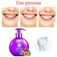 Интенсивное удаление пятен пищевая Сода отбеливающая зубная паста для чистки зубов освежающий пресс тип фруктовая зубная паста уход за полостью рта