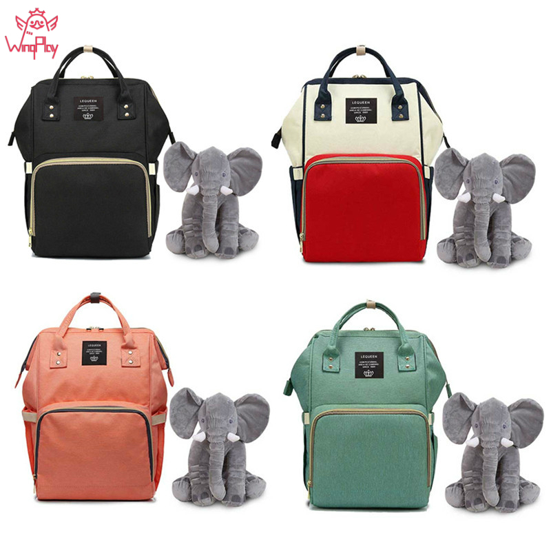 Elephant Large Capacity Baby Diaper Bag Travel Backpack Nappy Bag For Stroller Baby Backpack Bags Mummy Diaper Bag Organizer #y