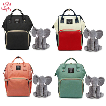 Elephant Large Capacity Baby Diaper Bag Travel Backpack Nappy Bag For Stroller Baby Backpack Bags Mummy Diaper Bag Organizer #y diaper bag organizer backpack brand nappy bags baby travel maternity bags for mother baby stroller bag diaper handbag