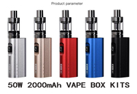 Original HT 50 electronic cigarette mods kit 2200mah 50w e cigarette box mod 510 thread 2.0ML tank electronic hookah vaper pen