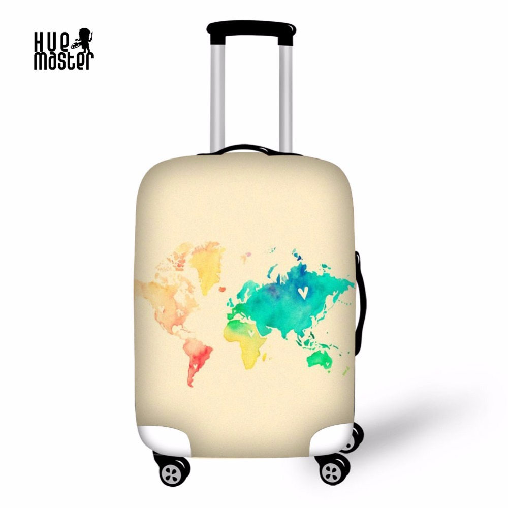 Travel accessories elastic suitcase protective covers waterproof travel accessories elastic suitcase protective covers waterproof luggage cover watercolor world map case for a suitcase gumiabroncs Image collections