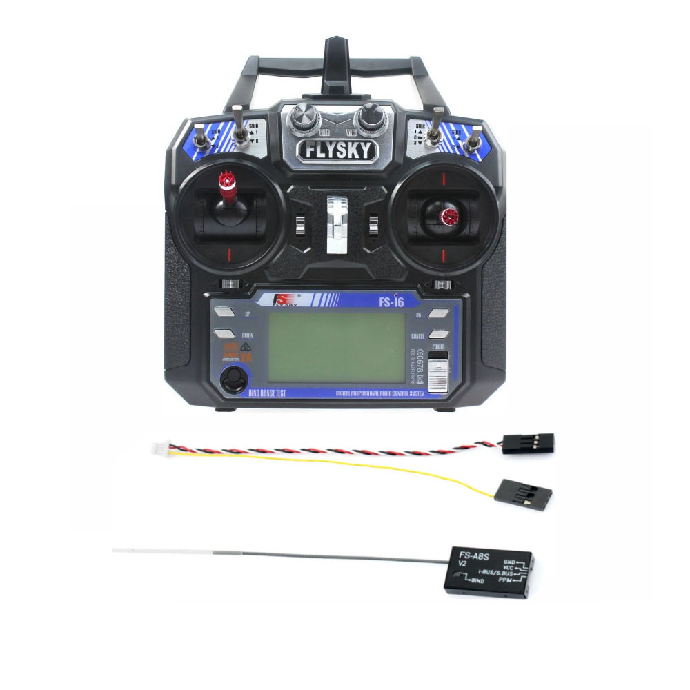 Flysky FS-i6 6CH 2.4G AFHDS 2A LCD Transmitter Radio System w/ FS-A8S V2 Receiver for Mini FPV Racing Drone RC Quadcopter jmt kingkong et100 rtf brushless fpv rc racing drone with flysky fs i6 6ch 2 4g transmitter radio system mini quadcopter