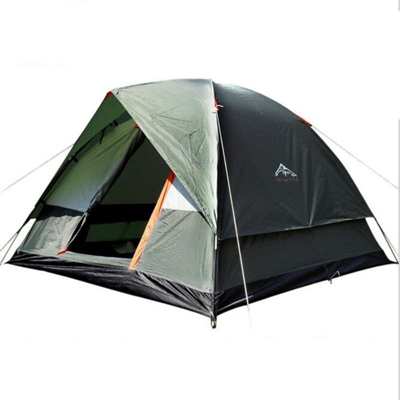 ФОТО camping tent for 3-4 people outdoor camping hiking trekking fishing hunting adventure picnic rainproof waterproof awning tente