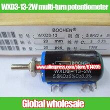 10 шт. WXD3-13-2W точность проволочный многооборотный потенциометр/слайд Реостат 1 К 2.2 К 3.3 К 4.7 К 5.1 К 5.6 К 6.8 К 10 К 22 К 33 К 47 К