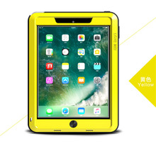 For New iPad 9.7 2017 Case,Love Mei Powerful Shockproof Aluminum Case Cover Strong For New 9.7 Case Gorilla Toughened Glass стоимость