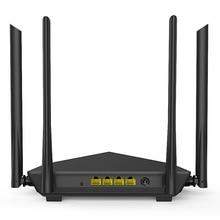 Tenda AC10 1200Mbps Wireless WiFi Router,1GHz CPU,1WAN+3LAN Gigabit Ports, 4*6dbi wall-mounted antennas, Smart APP Manage