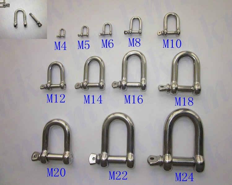 Pengiriman gratis grosir Stainless Steel Mini kecil jenis D dan Dee M5 sekrup Pin jangkar belenggu