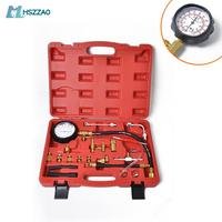 0 140PSI Fuel Injector Injection Pump Pressure Tester Gauge Kit Car Tools (Master) Auto Accessories