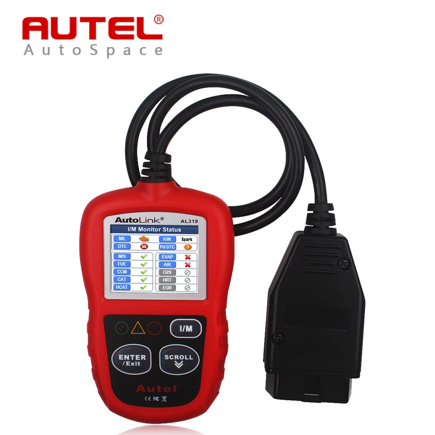 new autel autolink al319 auto obd2 scanner car obd 2 ii code reader scan autel al 319 diagnostic. Black Bedroom Furniture Sets. Home Design Ideas