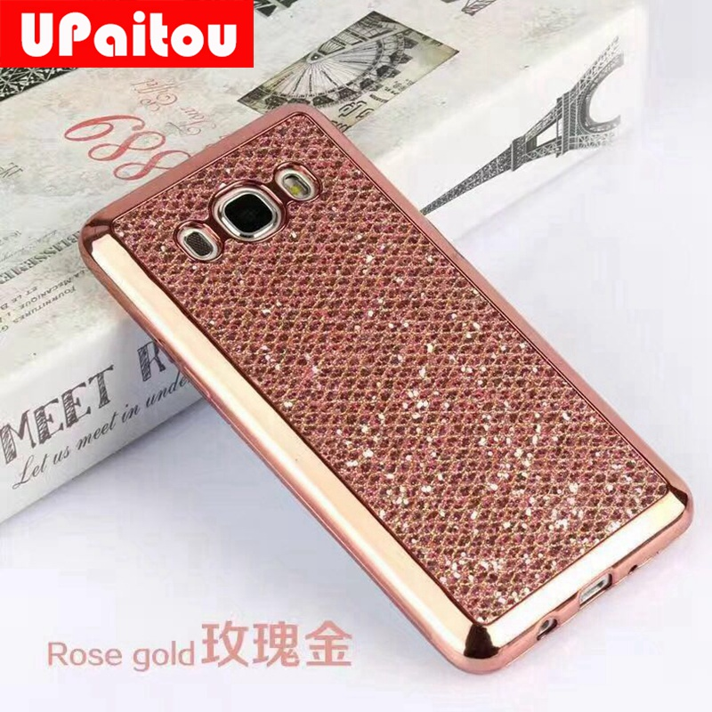 UPaitou Luxury Glitter Powder Case for Samsung Galaxy J1 Ace J2 J3 J5 J7 Prime 2016 2015 A3 A5 A7 2017 TPU Case Bling Back Cover