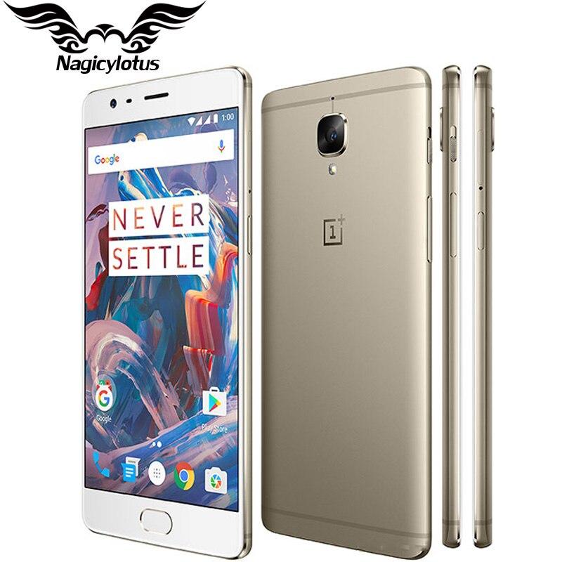 New Original Oneplus 3 Mobile Phone 6GB RAM 64GB ROM Snapdragon 820 Quad Core 5 5