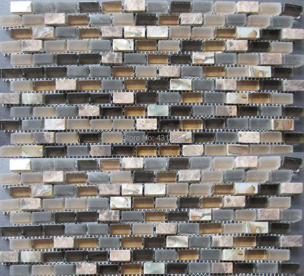 Azulejos de mosaico de vidrio mosaico de piedra c scara - Azulejos de cristal ...