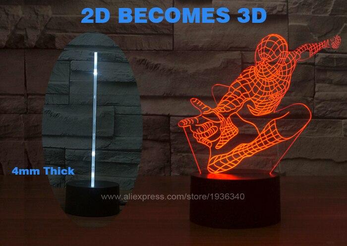 Free Shipping 3D DECOR The MOVIE hero spiderman shape LED Night ...
