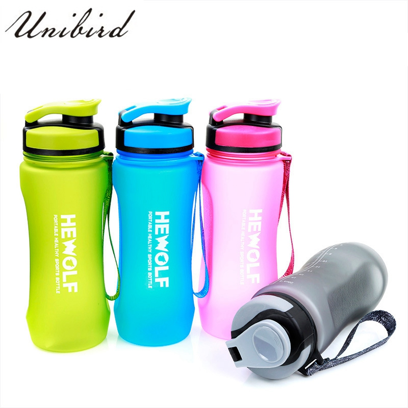 Unibird 600ML Sport Water Bottle Outdoor Travel Camp Drinkware With Rope Lemon Juice Drinking Portable Fitness Container