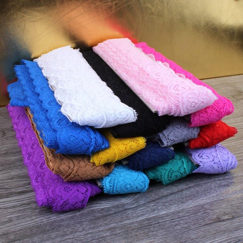 1 упаковка = 10 ярдов, 14 цветов, 3,5 см, Тюлевая кружевная тесьма, кружевная лента для украшений, эластичная кружевная стрейч для маленьких девоч...